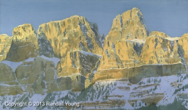 "Castle Mountain 28 x 16"" Framed $1295"