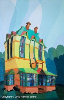 House of Whimsy 12 x 19 Framed $395