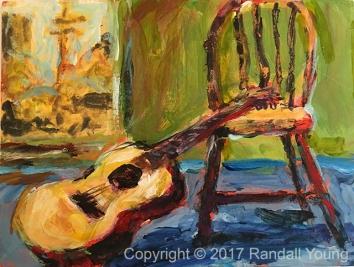 The Guitar Room 6 x 8 Acrylic on board $75