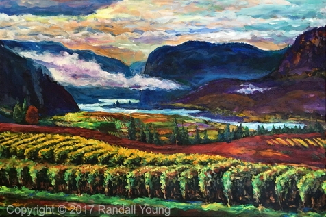 """Across Blue Mountain 36 x 24"""" Acrylic on canvas with gallery wrap $1595 Prints also available"""