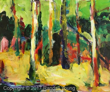 "Enigmatic Forest 8 x 10"" Acrylic on board $185"