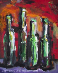 So much wine 8 x 10 Acrylic on panel $115