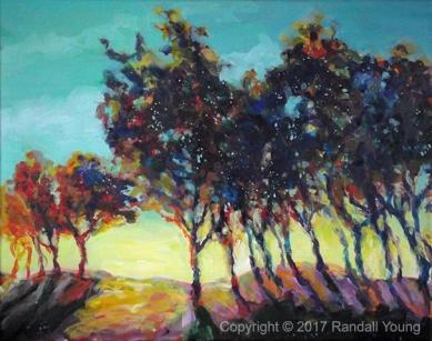 """Technicolour Dawn 20 x 16"""" Acrylic on canvas $395"""