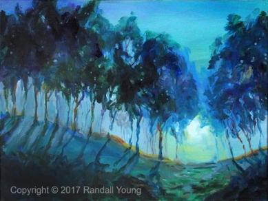 "The Evening Blues 24 x 18"" Acrylic on canvas $595"