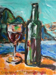 Wine by the Lake 6 x 8 Acrylic on board $75