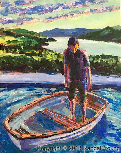 A Boy in a Boat W