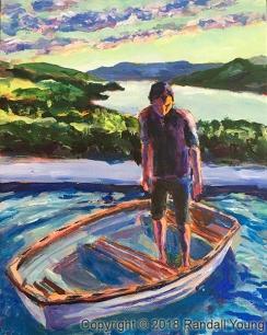 A Boy in a Boat 8 x 10 Acrylic on panel $150