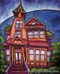 House of Dreams Oil on panel SOLD