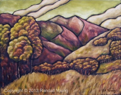 Saddle Mountain Oil on canvas SOLD